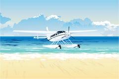 plażowy hydroplan ilustracji