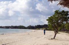 plażowy karaibski kukurydzany wyspy Nicaragua morze Zdjęcia Stock