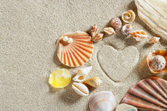 plażowy kierowy druku piaska kształta wakacje biel Zdjęcia Stock