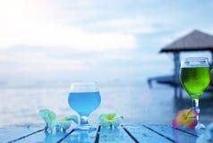 Plażowy koktajlu zaproszenia pojęcie Zdjęcie Royalty Free