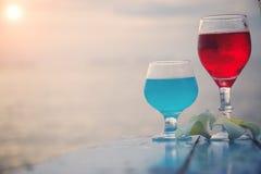 Plażowy koktajlu zaproszenia pojęcie Obraz Royalty Free