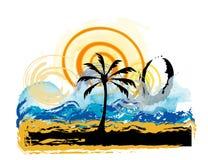 plażowy krajobraz ilustracja wektor