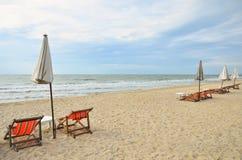 plażowy krzesło Obrazy Stock