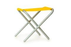 Plażowy krzesło odizolowywający na biel zdjęcie royalty free