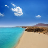 Plażowy Lanzarote costa Playa Del Pozo Papagayo Zdjęcie Stock