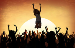 Plażowy lato muzyki koncerta Outdoors Rekreacyjny Pościgowy pojęcie Obraz Royalty Free