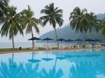 plażowy lounger Obraz Royalty Free