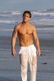 plażowy mężczyzna fotografia royalty free