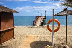plażowy Marbella Spain obrazy royalty free
