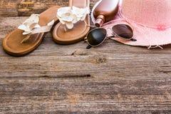 Plażowy materiał na stole fotografia royalty free