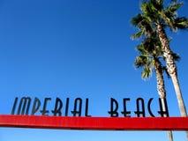 plażowy miasta imperiału znak Fotografia Royalty Free
