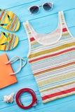 Plażowy moda stylu położenie Zdjęcia Royalty Free
