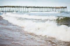 plażowy molo Virginia zdjęcia royalty free