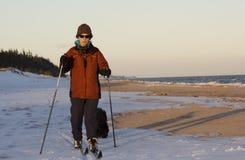 plażowy narciarstwo Fotografia Royalty Free