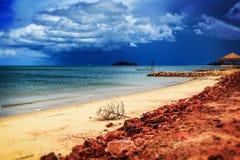 Plażowy niebo burzowy Fotografia Stock