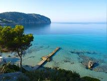 plażowy obóz de Mallorca Mar Obrazy Royalty Free