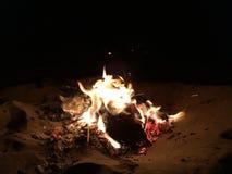 Plażowy ogień Zdjęcie Royalty Free
