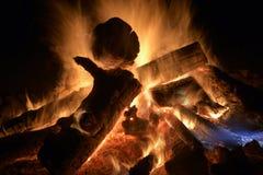 Plażowy ognisko na Jeziornym przełożonym zdjęcia stock
