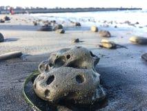 Plażowy otoczak w Monterey plaży Zdjęcia Stock