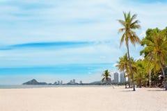 plażowy piękny denny tropikalny Zdjęcia Royalty Free