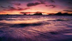 plażowy piękny zmierzch zdjęcia stock