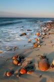 plażowy piękny zmierzch Obraz Stock