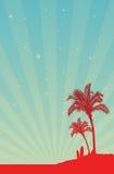 plażowy plakatowy szablon Zdjęcia Stock