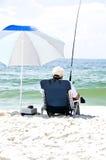 plażowy połów Zdjęcia Royalty Free