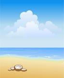 plażowy pogodny ilustracja wektor