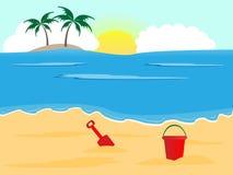 plażowy pogodny obraz stock