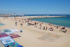 Plażowy powszechny sprzedawca, Barcelona obraz royalty free