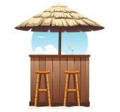 Plażowy Prętowy poszycie Rocznika holu kawiarnia Odizolowywająca royalty ilustracja