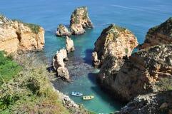 Praia da Piedade, Algarve, Portugalia, Europa fotografia stock