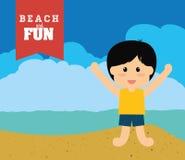 Plażowy projekt Zdjęcie Royalty Free