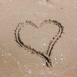 plażowy projekta elementu serce romantyczny Romantyczny skład Obraz Royalty Free