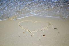 plażowy projekta elementu serce romantyczny Romantyczny skład Zdjęcia Royalty Free