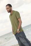 plażowy przystojny mężczyzna Zdjęcia Stock