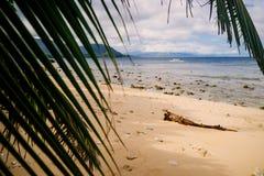 Plażowy raj przy Puerto Galera Orientalny Mindoro Filipiny fotografia stock