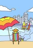 plażowy relaksować Zdjęcie Stock