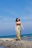 plażowy relaksujący spacer fotografia stock