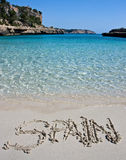 plażowy słowo Obrazy Stock