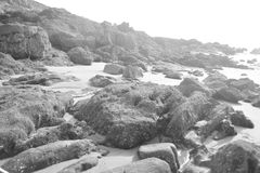 Plażowy sandï ¼ Œboatï ¼ Œsea, osoba Fotografia Royalty Free