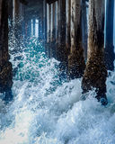Plażowy sceny molo Zdjęcia Stock