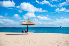 Plażowy schronienie fotografia stock