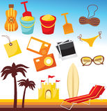 plażowy set ilustracja wektor