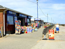 Plażowy sklep, morze, Lincolnshire. Fotografia Royalty Free
