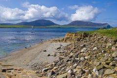 plażowy stały ląd Orkney zdjęcia royalty free