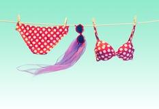 Plażowy strój Lat ubrania ustawiający wakacje Zdjęcie Royalty Free