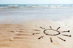 plażowy tła morze Fotografia Royalty Free