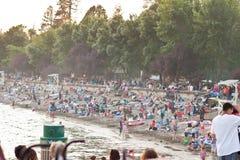 plażowy tłum Fotografia Stock